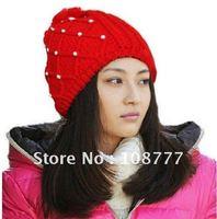 Free shipping/High quality /Hat / Korean pearl wool cap/headwear