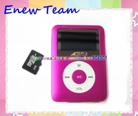 Free shipping clip mp3 player with screen card slot and Loudspeaker