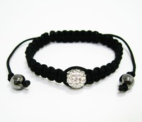 wholesale price Shamballa Bracelet.fashion jewelry.Bracelet.fashion stretch bracelet.Weave Bracelet.Free shipping.