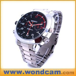 HD 1080P Waterproof Watch Camera Stainless Steel Strap Description