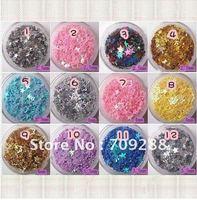 Free Shipping Nail Art Nail Decoration Nail Supplies Gorgeous Nail Laser Sequins Flash Chip Nail Glitter  Nail Shine