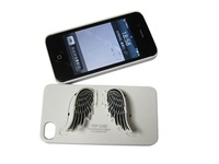 Wholesale fashion novelty SGP For iphone 4 Angel Wing Holder back Case With Retail Package 20pcs/lot free shipping