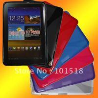 30pcs/lot Free shipping Soft TPU Gel Case for Samsung Galaxy Tab 7.7 P6800New
