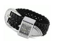 30pcs/lot dropshipping New arrival Wrist  diamond knitting bracelet watch,discount sales fashion ladies