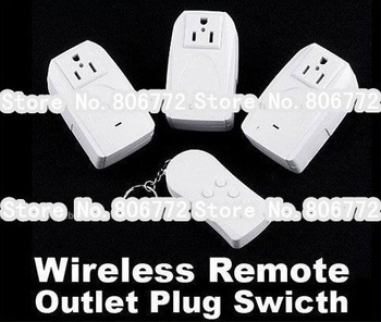 Free Shipping Indoor Wireless Remote Control Power Socket Outlet Plug Switch Wholesale