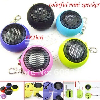 Mini Speaker for Laptop MP3 MP4 Colorful Mini Portable Speaker With Keychain -DHL Freeshipping