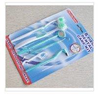 Free 100sets/Lot Oral care kit, dental hygiene, Oral clean tools (8pcs in 1 set), Dental Care Kit, tooth brush