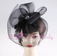 Wedding Party Hair Accessories, Veil hat, nice rhinestone decoration feather hair accessories