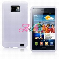 10pcs/lot Free Shipping Chromatic Soft Silicone Case Cover for Samsung SamSung I9100 Galaxy S2 S 2