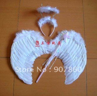 FREE SHIPPING White Feather wing/Angel wing/Fairy wing/Party accessories/Performance accessories 10pcs/lot