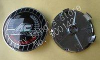 52pcs ABS Chrome Epoxy 68mm Wheel Center Cover Hub Cap Car Emblem Badge For BMW AC Schnitzer Emblems Badges