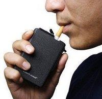 Wind Resistance Tobacco Lighter Cigarette Case Black