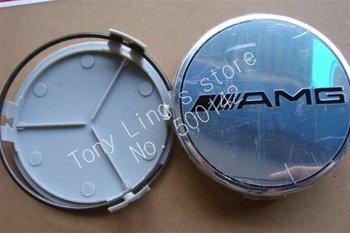 Free shipping 8pcs/lot Silver Benz AMG wheel cover emblem Mercedes Benz Wheel Central Cover Cap 75MM car badges