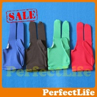 Hot sale Pool Table gloves 10pcs/lot Snooker shooters billiard 9-ball Glove BLUE,BLACK,GREEN,RED