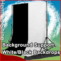 Studio Background Support 7x7 ft + 2 (White and Black) Backdrops + Free Carry bag - Wholesale/ Retail [AKT015]