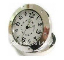 Free Shipping Camera Desk Clock Watch DVR Record Cam Motion Detection Camera 50pcs/lot(China (Mainland))