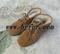 FY-XZ010 New Ladies fur one winter shoes