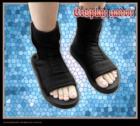FreeShipping New Cheap Wholesale/Retail Naruto Black Ninja Cosplay Shoes Boots Party  Dress Lolita