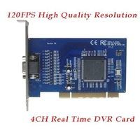 4 CH Channel 120FPS Security CCTV Camera Video Capture PCI DVR Card