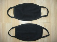 free shipping man cotton painted mouth masks/ dustproof warmer mask/prevent odors mask /black three side mask/mk-01