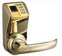 HOT! Golden Fingerprint door lock Adel DIY-3398 (fingerprint/password/key)