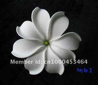 KL113A 8.5CM FREE SHIPPING NEW ARRIVAL HOT SALE WHITE 288PCS 8CM TIARE FOAM FLOWER HAWAIIAN FOAM FLOWER HAIR FLOWER WITH STEM