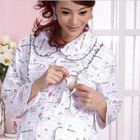Free shipping/2011 sping autumn wear pure cotton coat, pregnant women breastfeeding garments/maternity wear