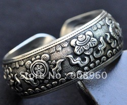 Wholesale Tibet Silver vogue character style vintage lucky totem Bracelet fashion jewelry 20pc/lot #073(China (Mainland))