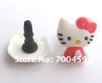 500PCS  HELLO KITTY 3.5 MM Cartoon Mobile Phone Ear Cap Dust Plug  dust plug for lovely ear cap