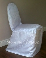 free shipping damask chair cover/wedding banquet chair cover for hotel use /