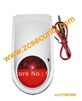 free shipping outdoor siren with strobe light , tamper switch wired model