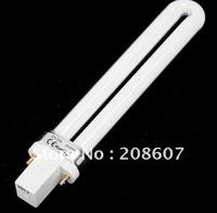 Freeshipping  9W Nail Art UV Lamp Tube White Light Nail Products / 9W UV lamp Blub / U-shaped lamp / light therapy lamp Curing