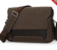Frosted leather horizontal male man shoulder bag gadget bag