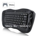 Free shipping computer remote control mini Wireless Keyboard with trackball