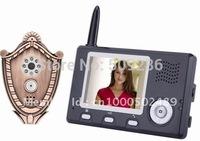2014 freeshipping 220v b/w top fasion seconds kill doorphone video intercoms wireless video intercom with peephole viewer