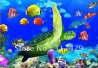 Good Quality 25*35cm HD PET Lenticular 3D Picture,3D lenticular home decoration pictures,Without frame -Sea turtles and fish