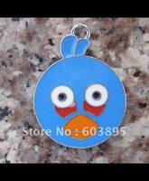 s9298 Free Shipping 100Pcs/Lots Enamel bird Charms jewelry charms 30*22mm