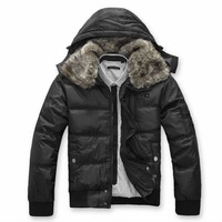Free shipping Mens Winter Warm Cotton Jacket faux Fur Hoody parka padded coat Outerwear thick coat hot fashion collection