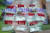 FREESHIPPING 500pcs/pack Natural Color Nail Tips Flase French tips Nail Art Acrylic Products Wholesale 215