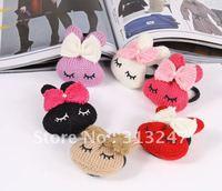 Hair Fashion-Lovely Rabbit bowknot hair rope,knitting hair elastic bands