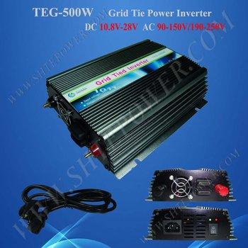 500w Grid Tie Inverter for Solar Panel, Solar Power Invertor, DC 12v/24v to AC 190v~250v