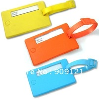 Sale Promotion! 3pcs/lot Pure Color Elegance Luggage Tag Decorate & Identify Your Bag 3 Color To Choose