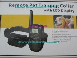 5pcs dog Remote training collar system with LCD display and 300 meters range collar 100 levels(China (Mainland))