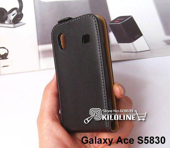 Чехол для для мобильных телефонов Gift Screen Protector! Genuine Leather Case Cover For Samsung Galaxy Ace S5830