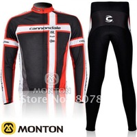 FREE SHIPPING!  2011 Cannondal TEAM LONG SLEEVE CYCLING JERSEY AND PANTS/CYCLING WEAR,LONG CYCLING JERSEY,WHOLESALE AND RETAIL