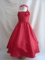 NEW RED FLOWER GIRL DRESS CHRISTMAS HOLIDAY