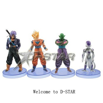 "Free Shipping Cool 5"" Dragon Ball Character Assortment Solid Season 3 PVC Action Figures Model Collection Toy (4pcs per set)"