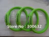 free shipping, Hot selling Anion Silicone Wrist Watch, opp bag packing