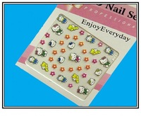 Wholesale 24 hello kitty designs nail art sticker / decals best for Nail Art beauty DHL Free shipping