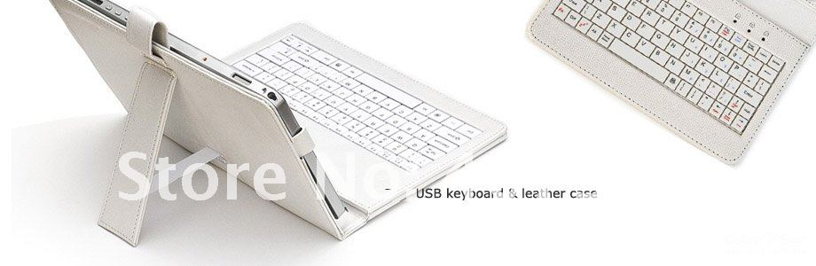 Support drop sample, 10 inch Leather Case Keyboard For Tablet PC With Stylus Flip Stand Case C ...